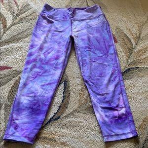 Vogo Purple tie dye Capri leggings.